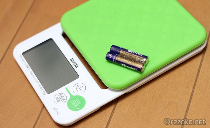 本体と電池