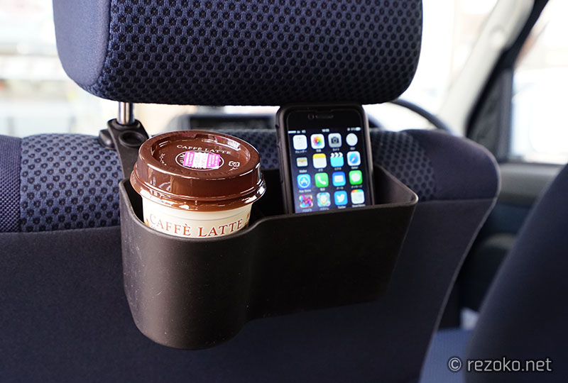 車に装着したリア用ポケット