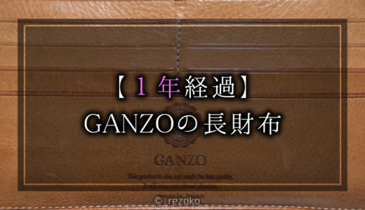 【1年使用】GANZOシンブライドル長財布のエイジング(経年変化)